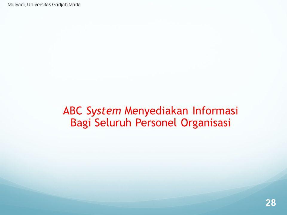 Mulyadi, Universitas Gadjah Mada ABC System Menyediakan Informasi Bagi Seluruh Personel Organisasi 28