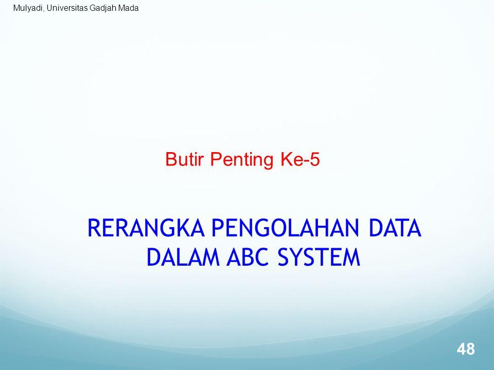 Mulyadi, Universitas Gadjah Mada Butir Penting Ke-5 RERANGKA PENGOLAHAN DATA DALAM ABC SYSTEM 48
