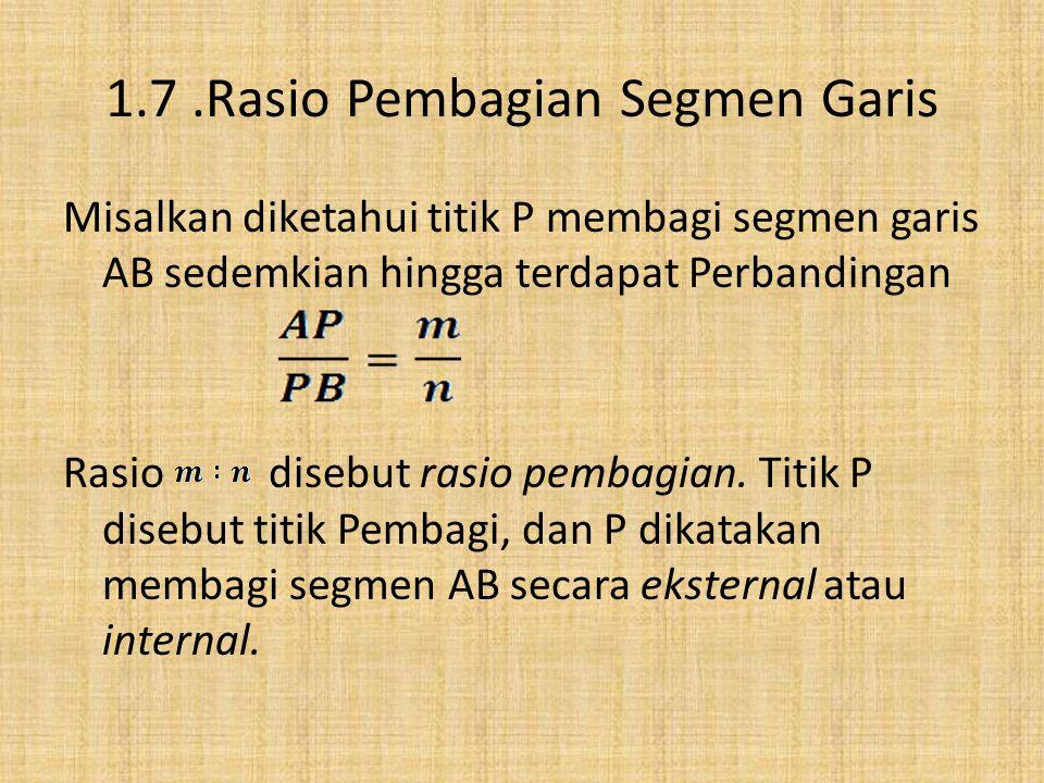 keLompok 3 … by : Ayu Dwi Asnantia Indah Yuniawati Khairiah 1.7 Rasio Pembagian Segmen Garis 1.8 titik tengah segmen garis 1.9 titik berat dari segitiga