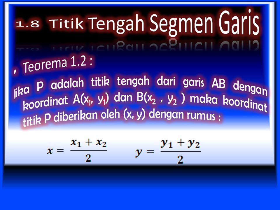 Dengan menyelesaikan persamaan untuk x P diperoleh Dengan cara yang sama dapat ditunjukkan bahwa