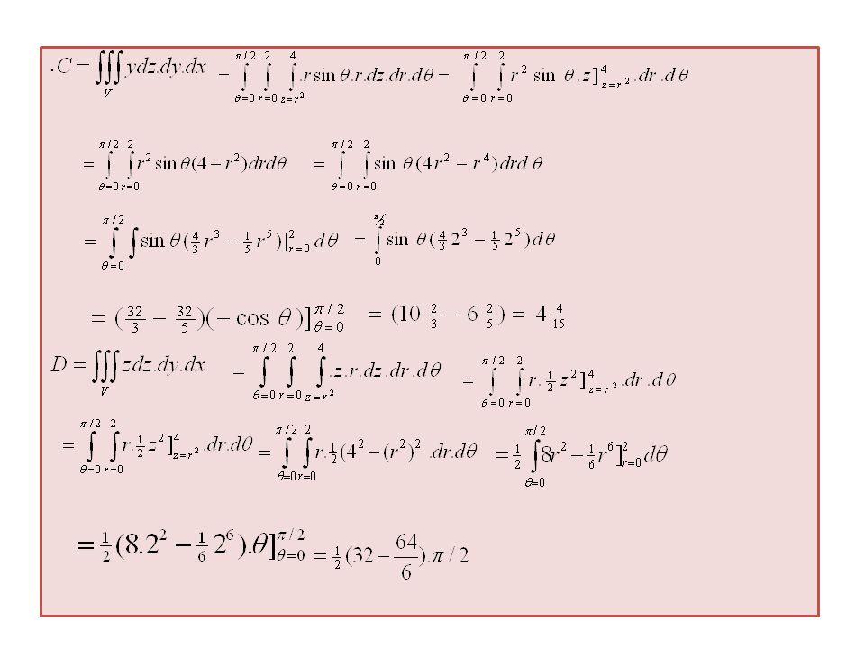 TUGAS 1.Hitung volume benda V dibatasi oleh bola dipotong oleh z = 1 bagian atas 2.