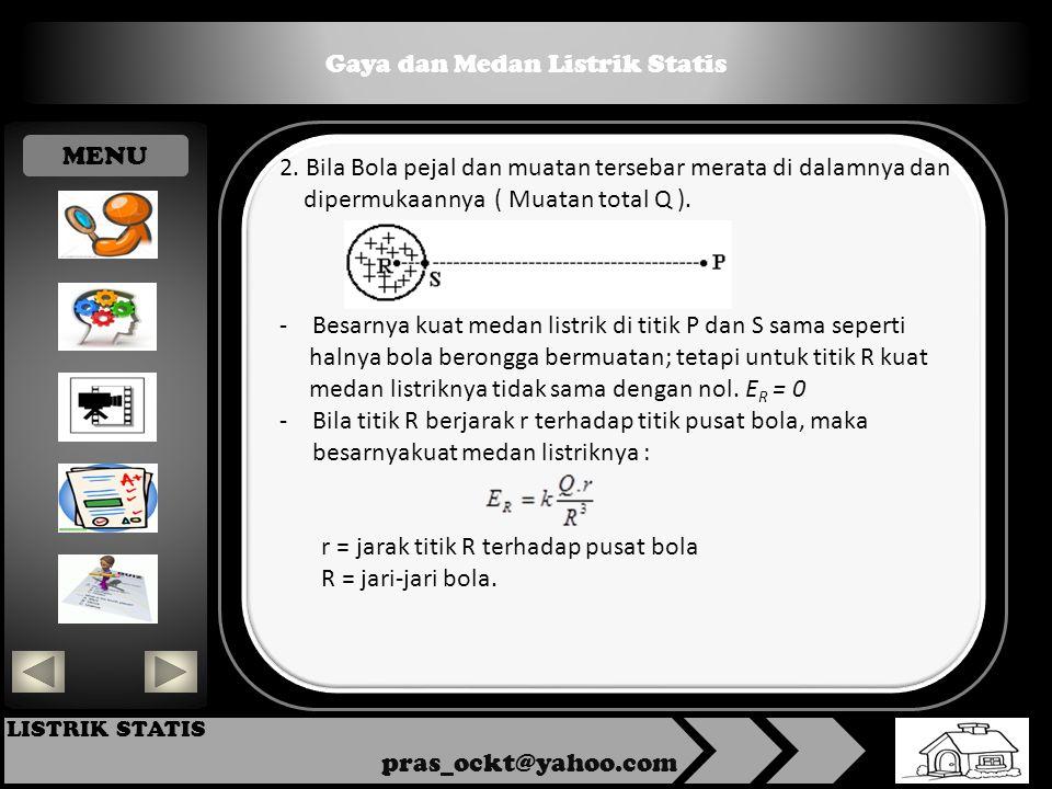 Gaya dan Medan Listrik Statis pras_ockt@yahoo.com LISTRIK STATIS 2.