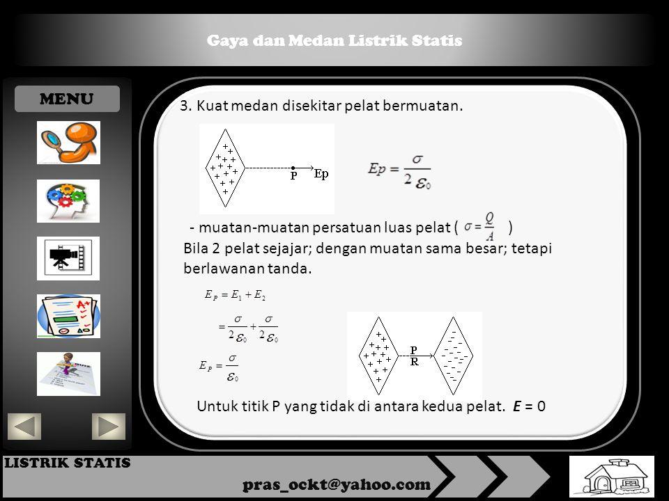 Gaya dan Medan Listrik Statis pras_ockt@yahoo.com LISTRIK STATIS 3.