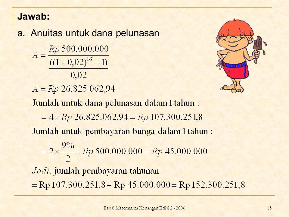 Bab 8 Matematika Keuangan Edisi 2 - 2006 16