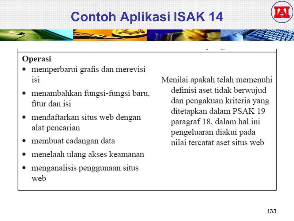 Contoh Aplikasi ISAK 14 133