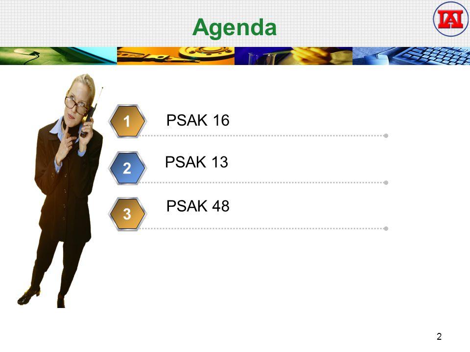 Agenda PSAK 16 1 2 PSAK 13 3 PSAK 48 2