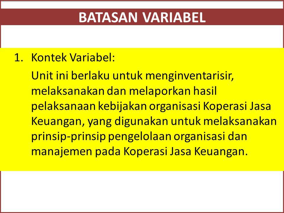 Inventarisasi Ketentuan dan Aturan KJK 1.Undang-Undang No.