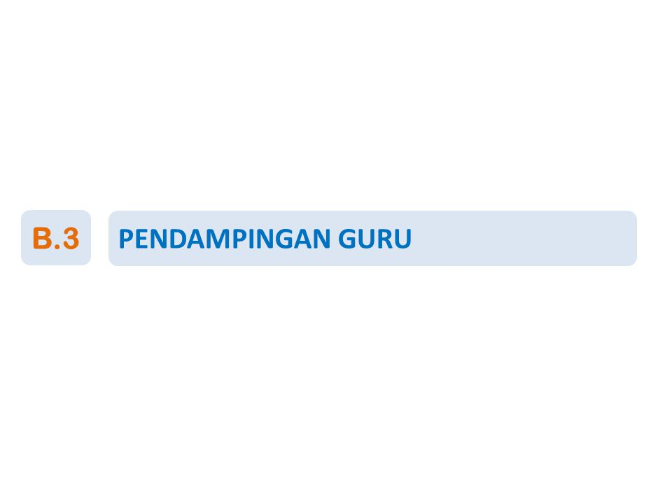 PENDAMPINGAN GURU B.3