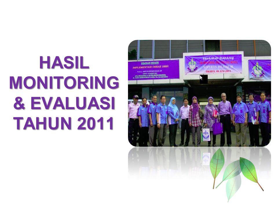 HASIL MONITORING & EVALUASI TAHUN 2011
