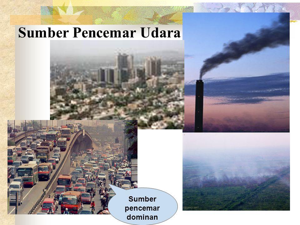 Sumber pencemar dominan Sumber Pencemar Udara