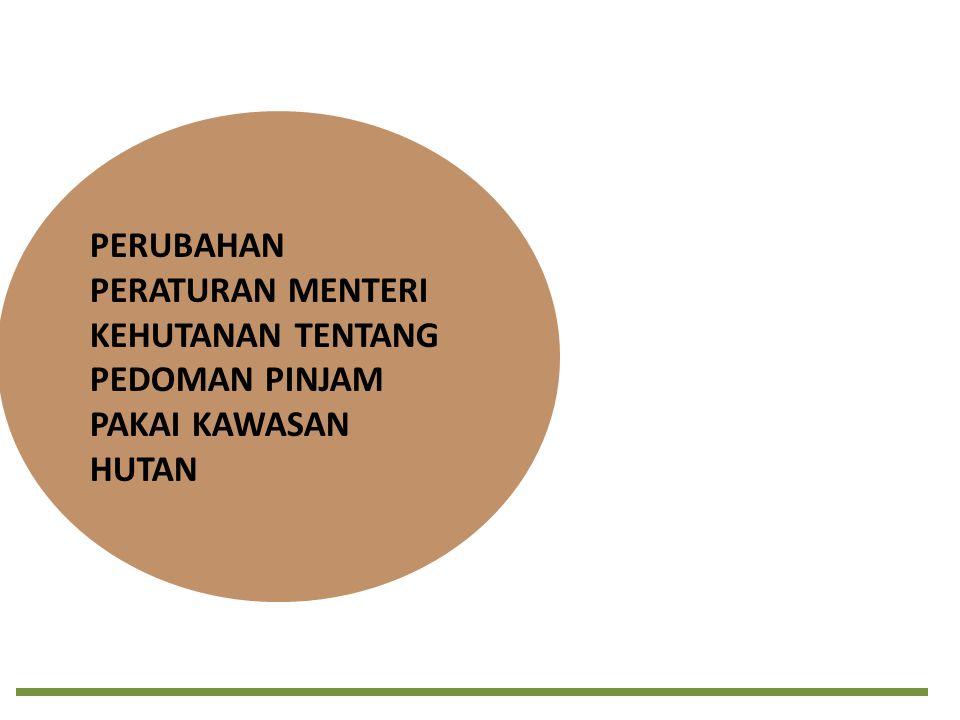 Dasar Perubahan/Penyempurnaan 1.Renaksi Kemenhut tindak lanjut Kajian KPK atas Sistem Perencanaan dan Pengelolaan Kawasan Hutan pada bulan Juni- Desember 2010 (17 Renaksi tahun 2011-2012).