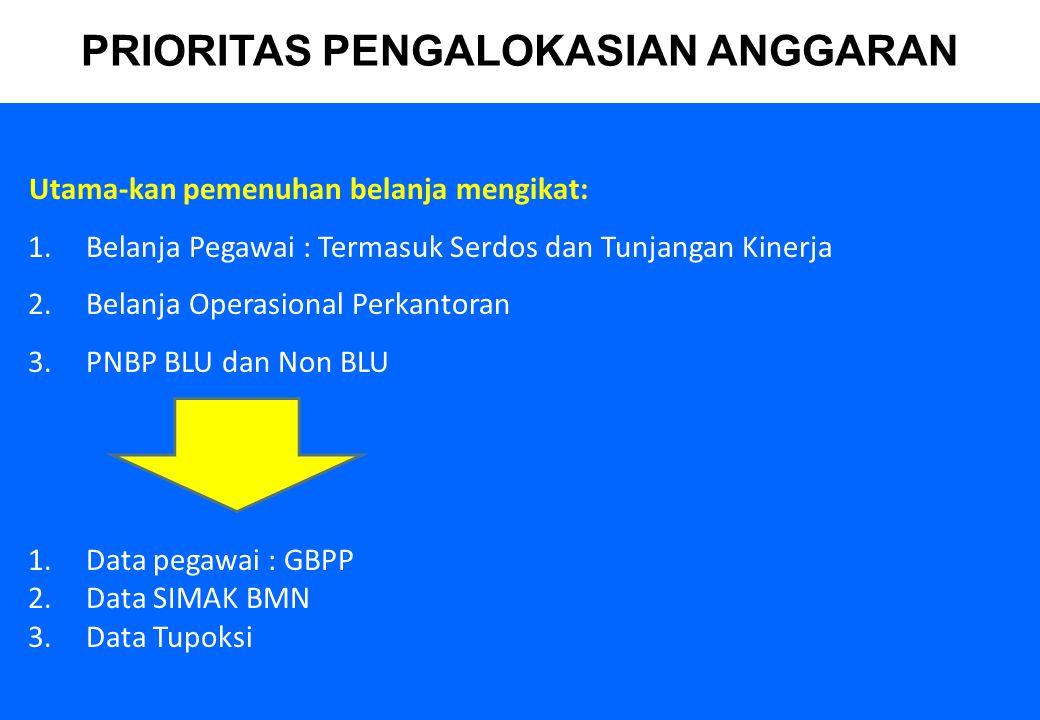 6 PENGALOKASIAN GAJI : 1.Belanja pegawai mengacu pada Gaji Pokok Pegawai (GPP) 2.Seluruh gaji CPNS dialokasikan di Biro Umum, termasuk gaji ke-13.