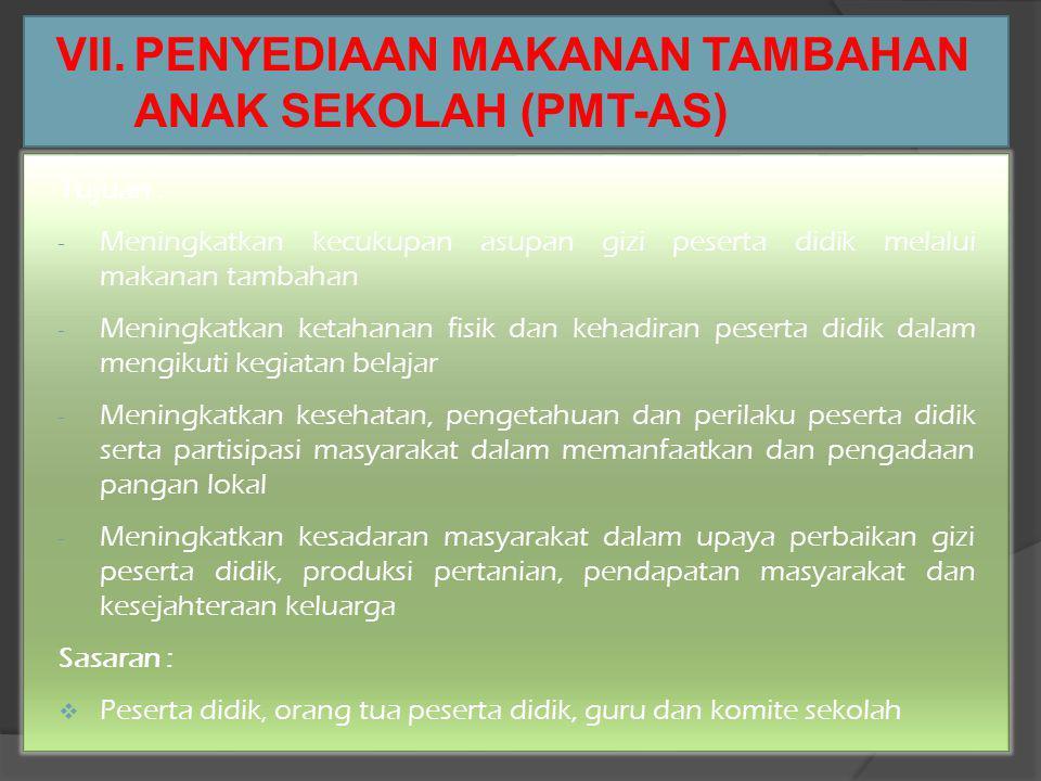 VI. SCHEDULE KEGIATAN NOKEGIATANRENCANAKETERANGAN 1RAKER PMT-AS 2 S/D 4 SEPT 2013 2RAKORDA POKJANAL POSYANDU 1 S/D 3 Juli 2013TELAH DILAKSANAKAN 3BBGR