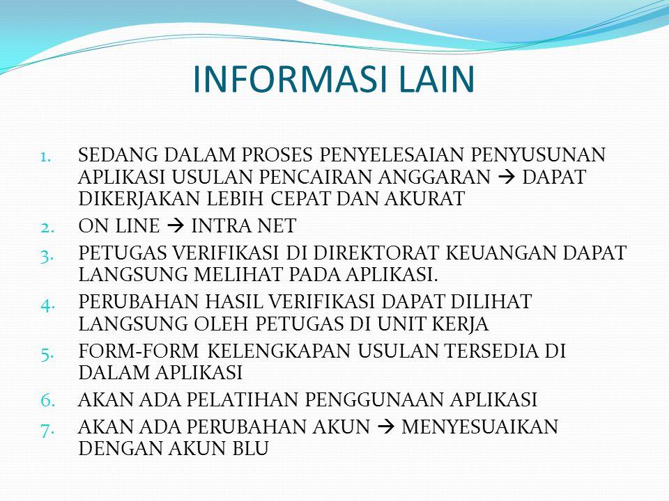 INFORMASI LAIN 1.
