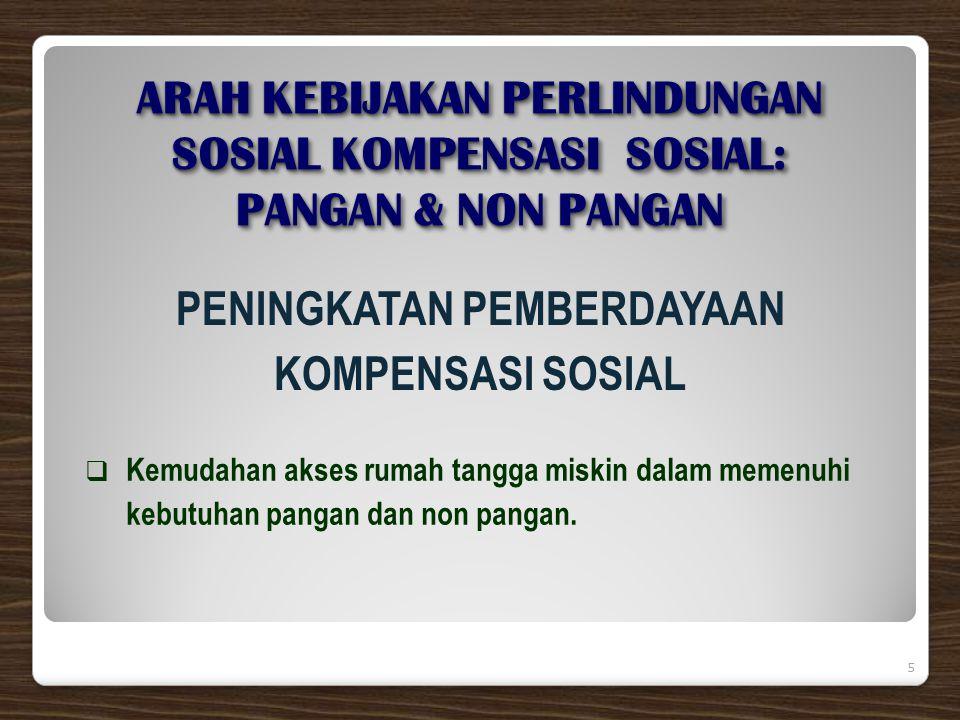 6  BERAS BERSUBSIDI UNTUK RUMAH TANGGA MISKIN  (R A S K I N);  BANTUAN LANGSUNG TUNAI (B L T);  WORLD FOOD PROGRAMME (WFP).