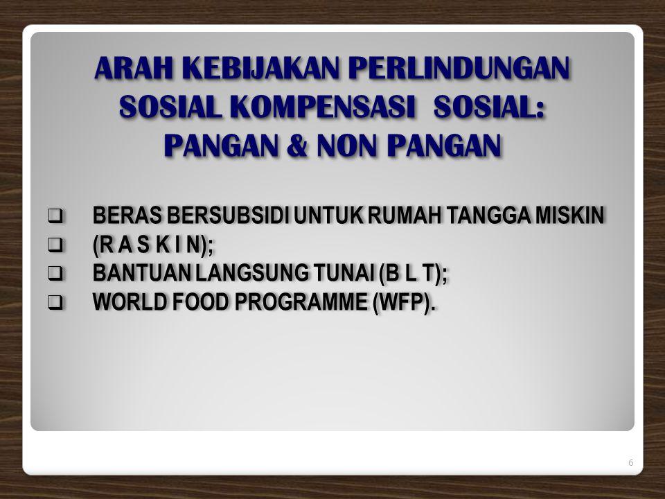 RASKINRASKIN PERANAN KEMENKO KESRA:  Tim Koordinasi Raskin Pusat;  KPA subsidi pangan (Raskin dan CBP).