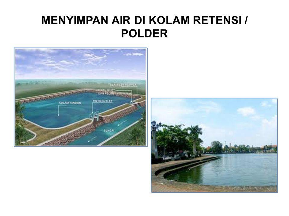 MENYIMPAN AIR DI KOLAM RETENSI / POLDER