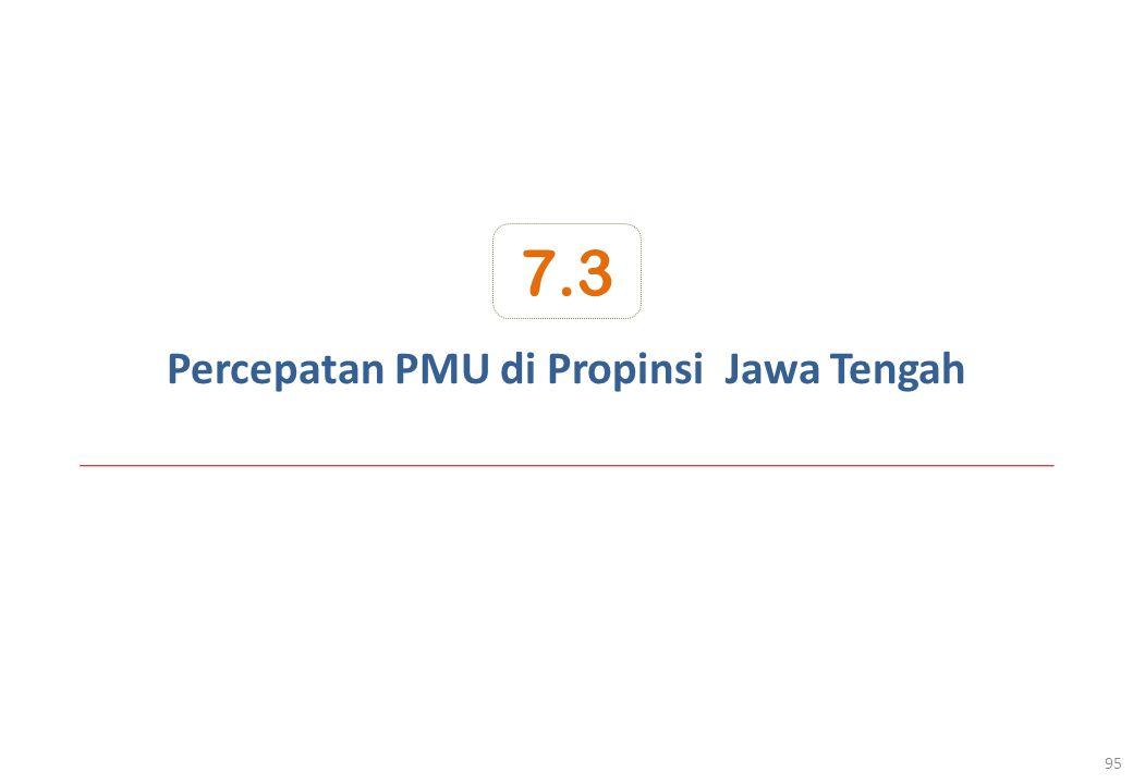 Percepatan PMU di Propinsi Jawa Tengah 95 7.3
