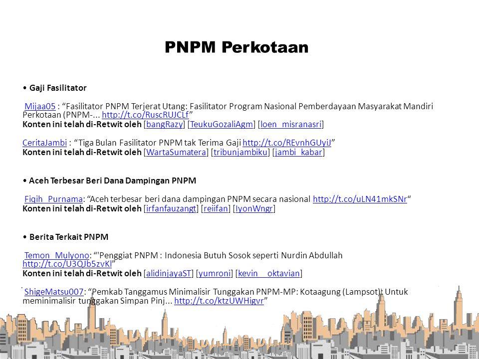 ". PNPM Perkotaan Gaji Fasilitator Mijaa05 : ""Fasilitator PNPM Terjerat Utang: Fasilitator Program Nasional Pemberdayaan Masyarakat Mandiri Perkotaan ("