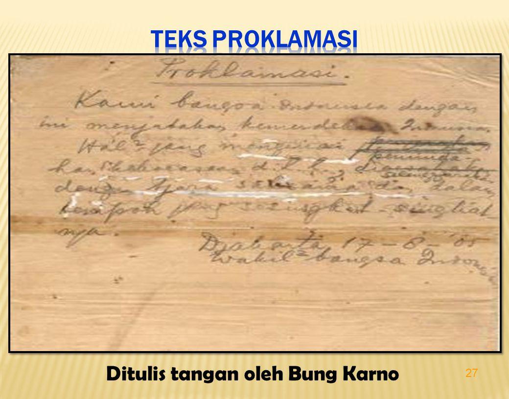 27 Ditulis tangan oleh Bung Karno