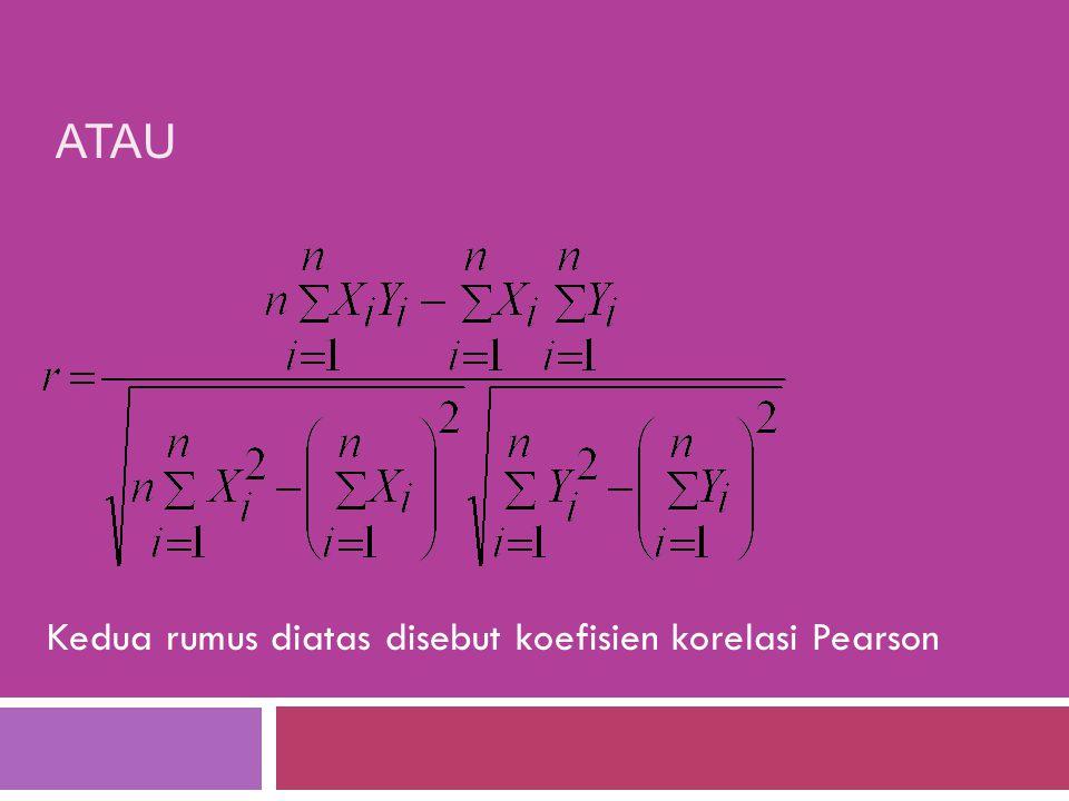Kalau koefisien penentuan ditulis KP, maka untuk menghitung KP digunakan rumus berikut : KP = KK 2 =r 2. Cara menghitung r adalah sebagai berikut: