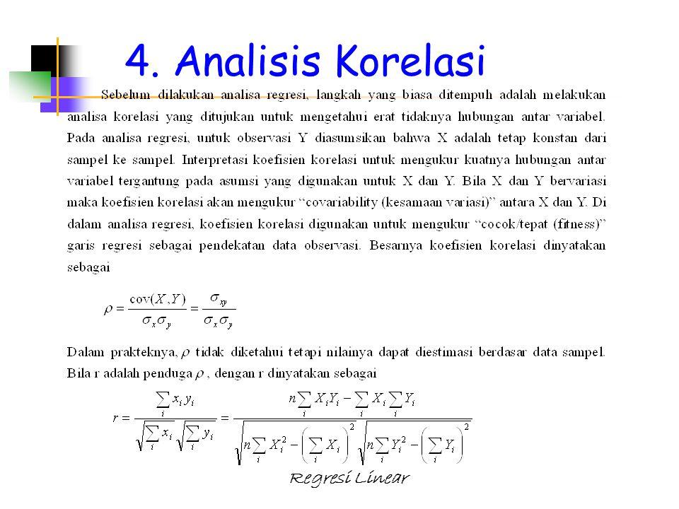4. Analisis Korelasi
