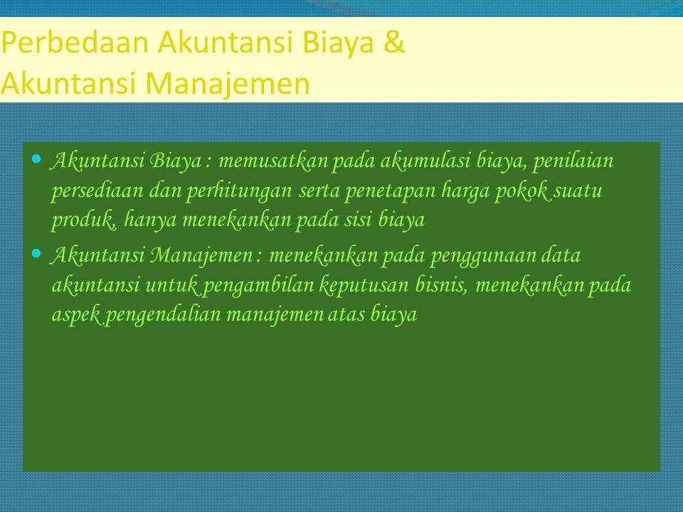Tujuan Akuntansi Biaya 1.