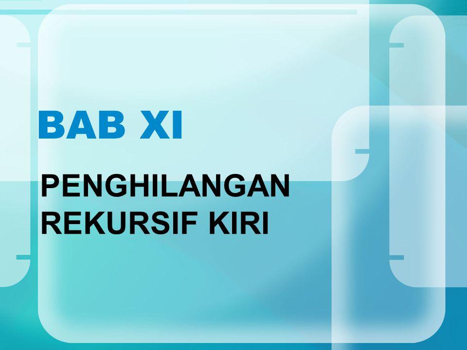 BAB XI PENGHILANGAN REKURSIF KIRI
