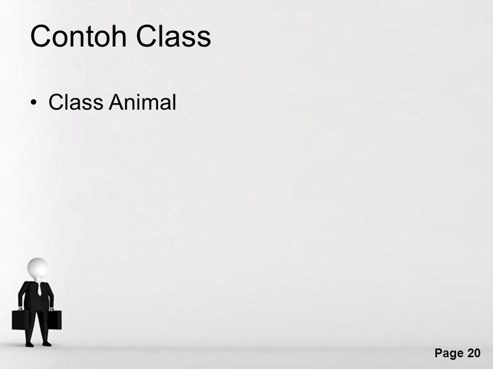 Page 20 Contoh Class Class Animal