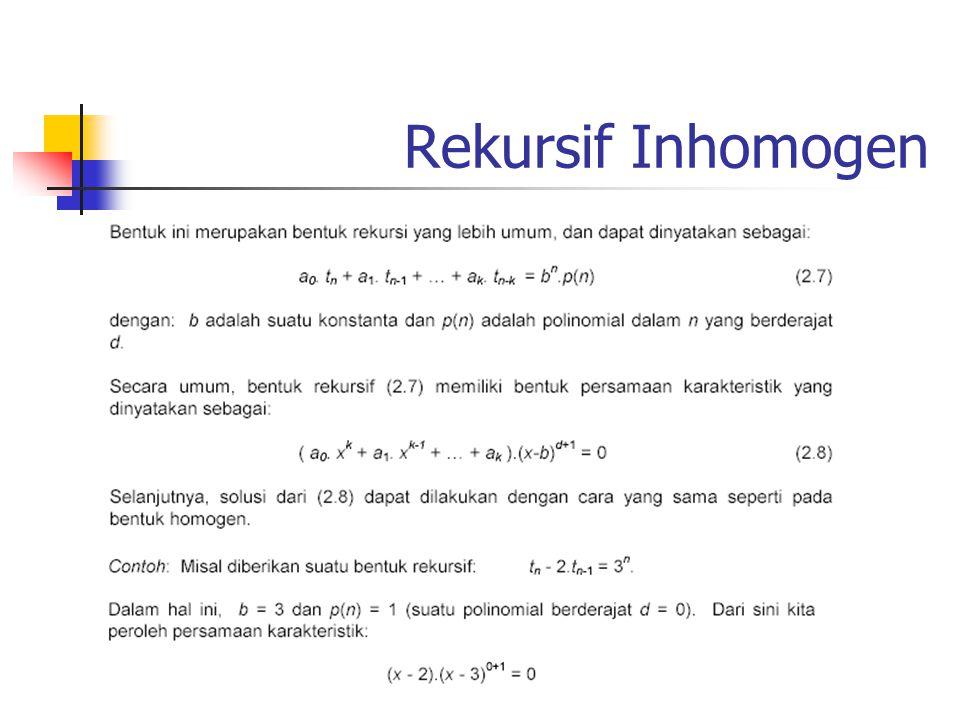 Rekursif Inhomogen
