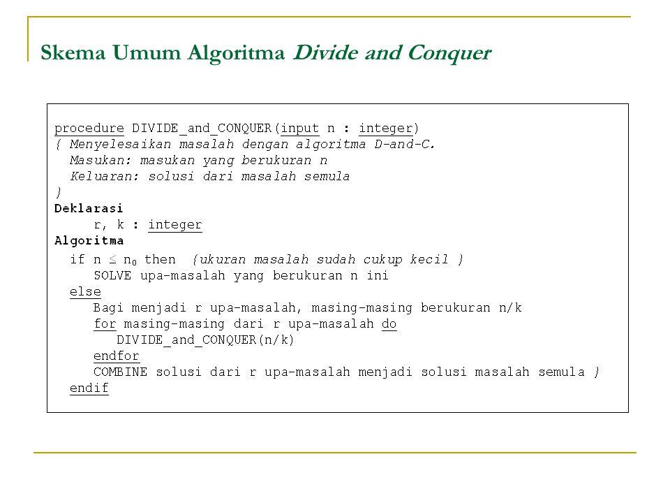 Skema Umum Algoritma Divide and Conquer