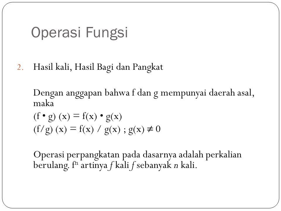 Operasi Fungsi 2.
