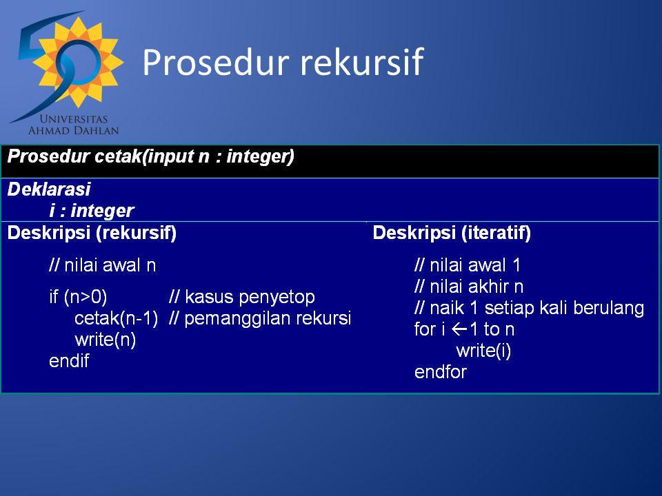 Prosedur rekursif