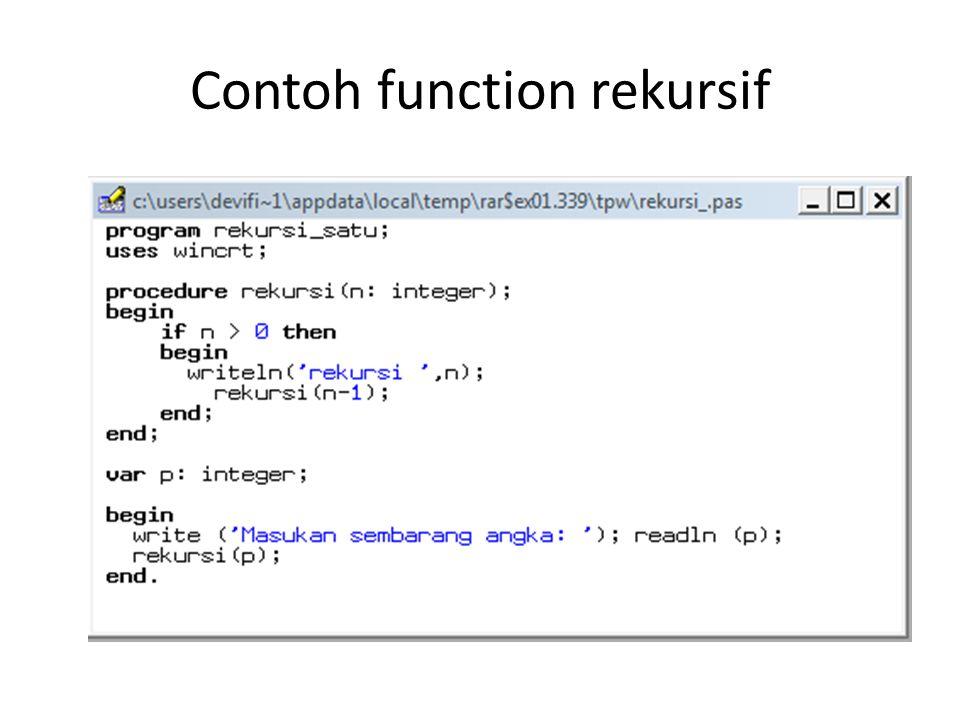 Contoh function rekursif