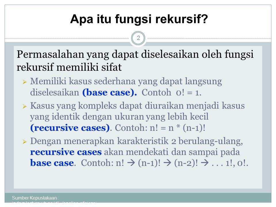 Sumber Kepustakaan : indryz.lecture.ub.ac.id/.../analisa-efisiensi- algoritm... 3