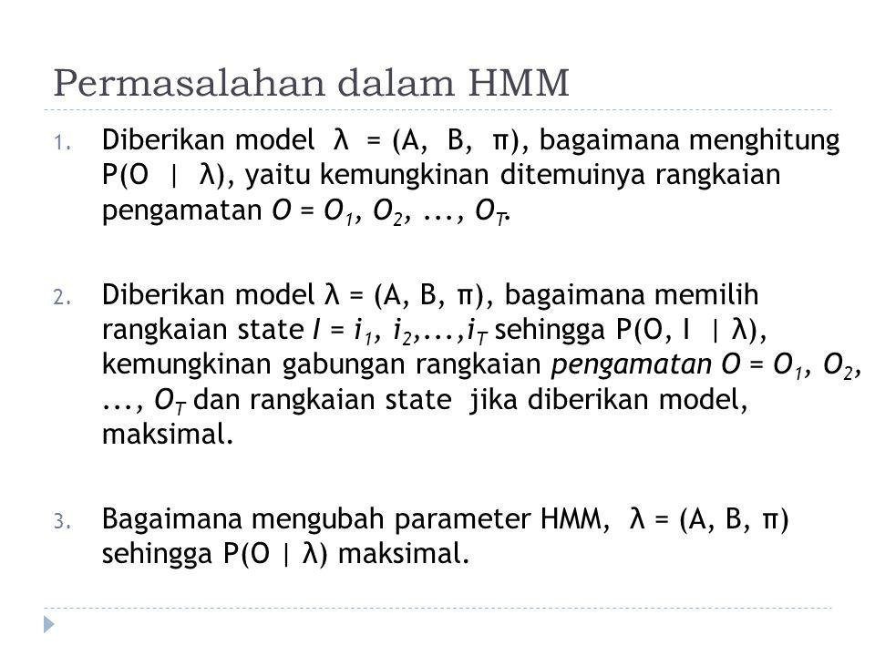 Permasalahan dalam HMM 1.