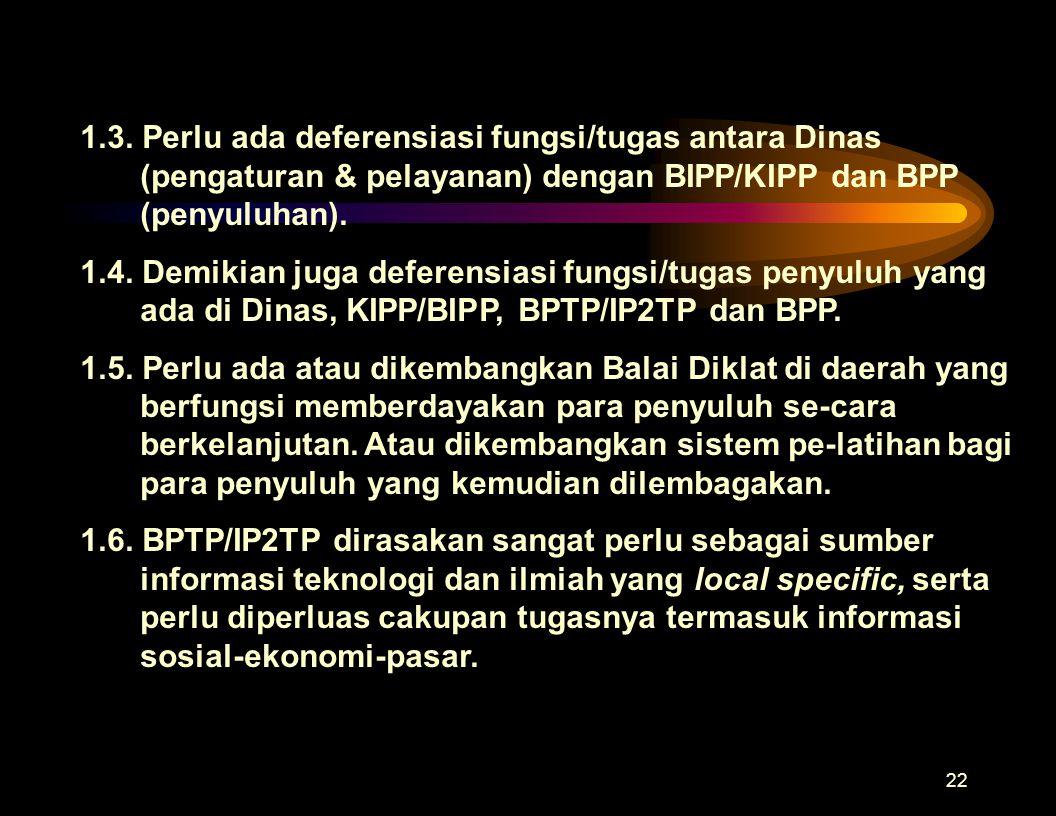 21 1.Perubahan kelembagaan penyuluhan 1.1.