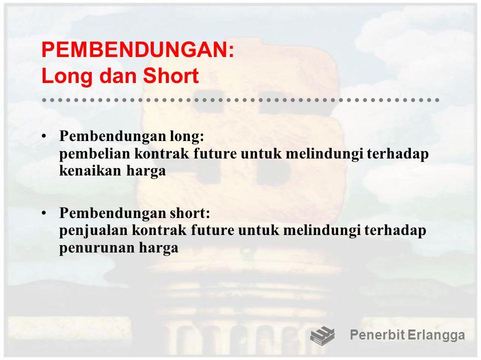 PEMBENDUNGAN: Long dan Short Pembendungan long: pembelian kontrak future untuk melindungi terhadap kenaikan harga Pembendungan short: penjualan kontra
