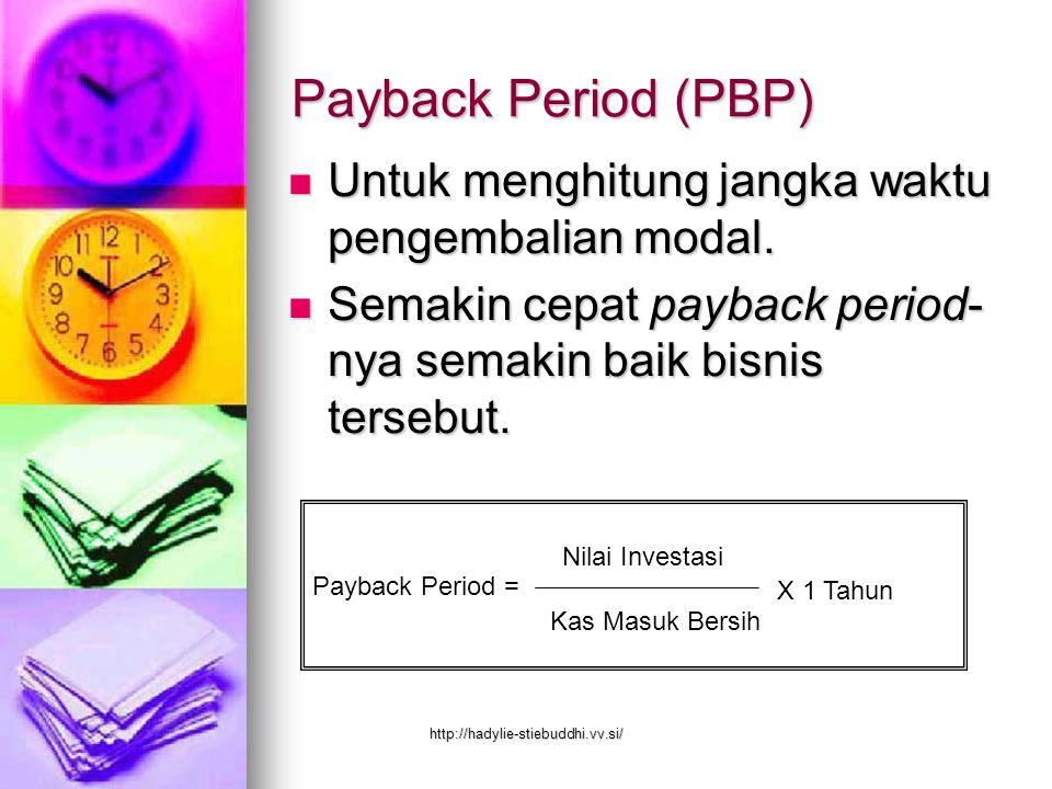 Kriteria Nilai Bersih Sekarang Nilai uang sebagai manfaat ekonomi dari usaha yang diperkirakan akan diterima di masa yang akan datang tidak sama dengan nilai uang yang diterima sekarang, karena adanya faktor interest rate http://hadylie-stiebuddhi.vv.si/