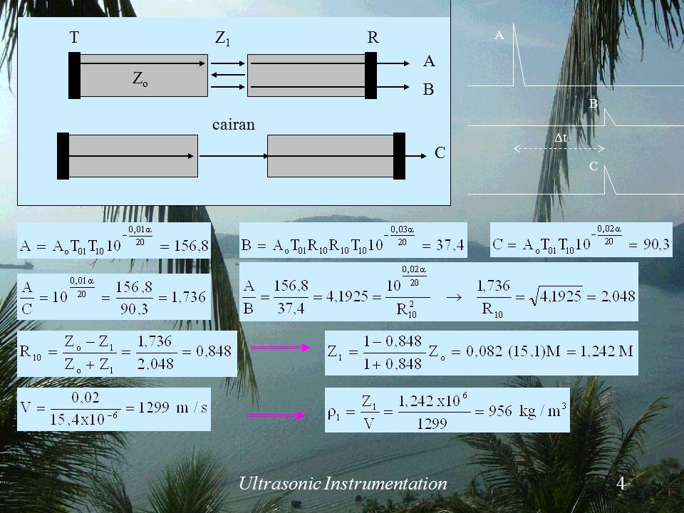 Ultrasonic Instrumentation5  PENGUKURAN POROSITAS Soal No.