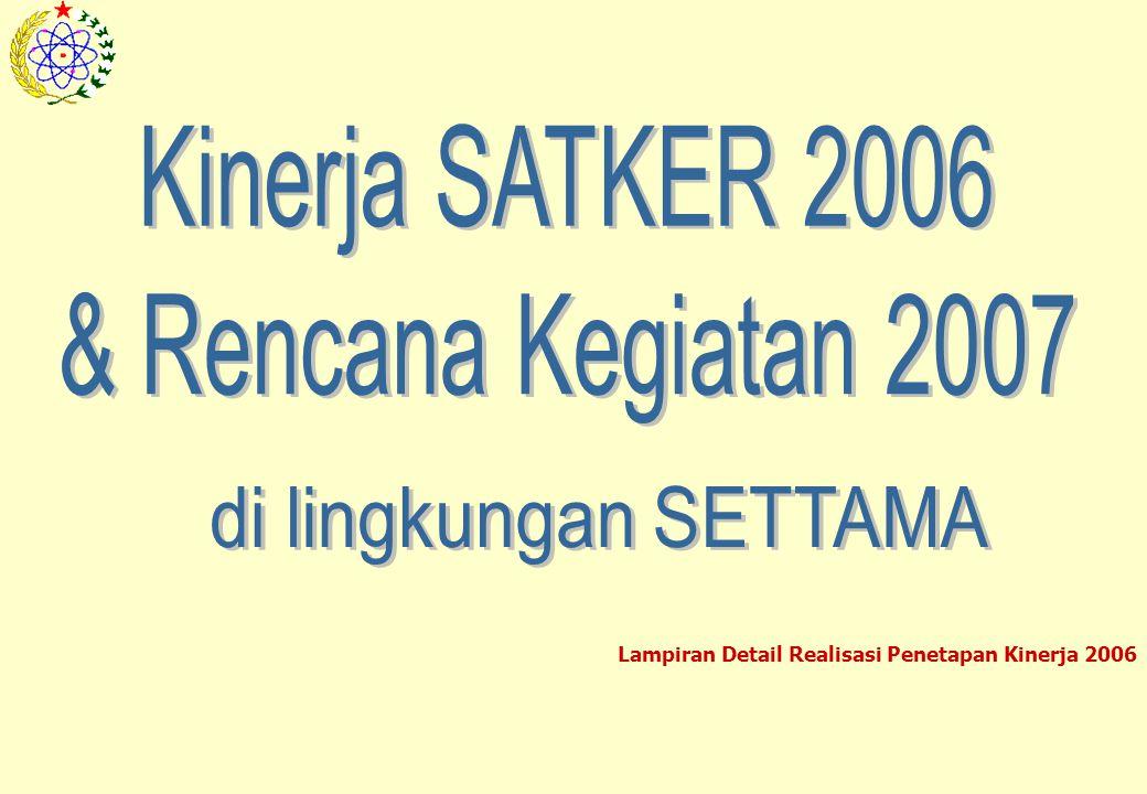 Lampiran Detail Realisasi Penetapan Kinerja 2006