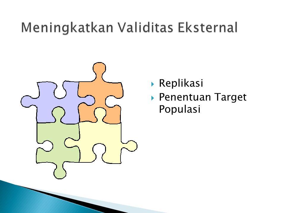  Replikasi  Penentuan Target Populasi
