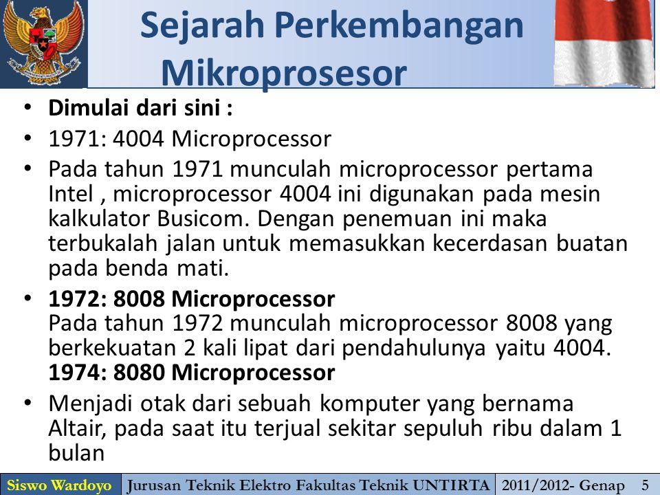 Dimulai dari sini : 1971: 4004 Microprocessor Pada tahun 1971 munculah microprocessor pertama Intel, microprocessor 4004 ini digunakan pada mesin kalkulator Busicom.