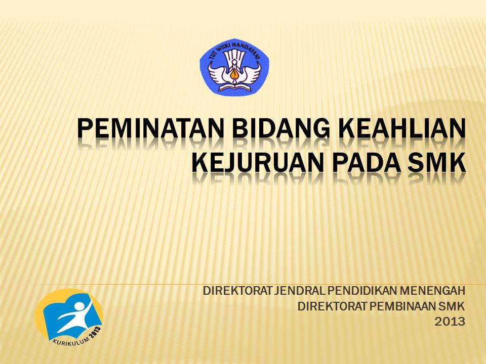 DIREKTORAT JENDRAL PENDIDIKAN MENENGAH DIREKTORAT PEMBINAAN SMK 2013