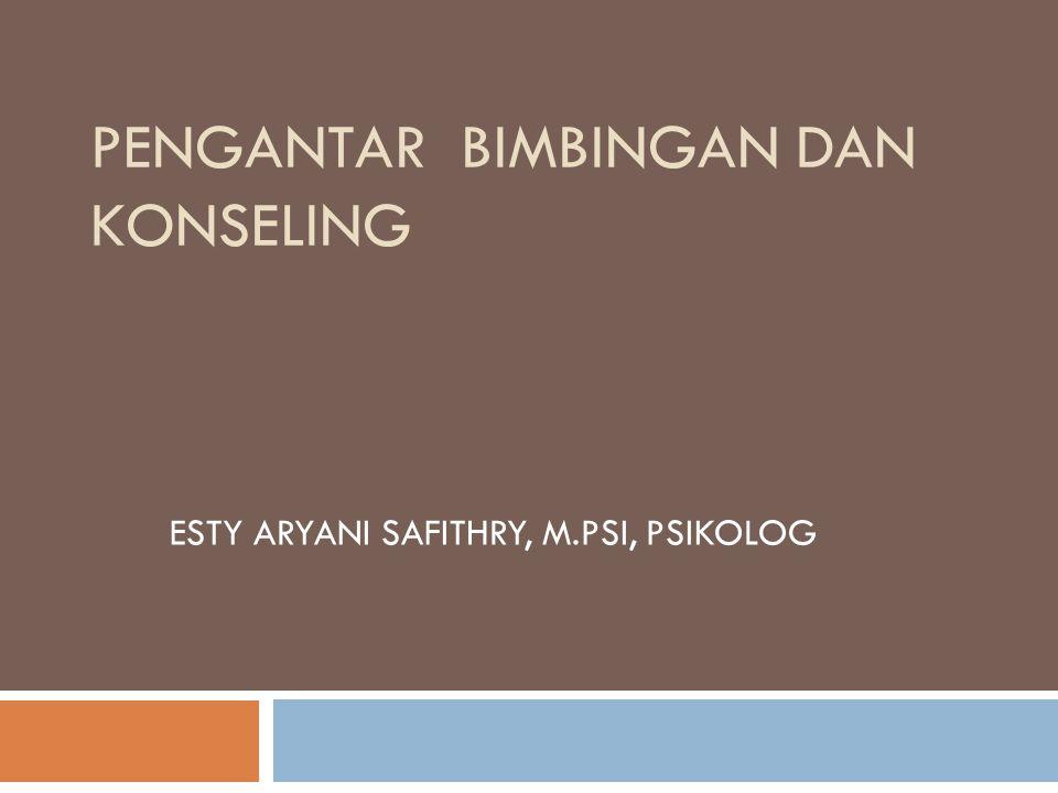 E.Asas-Asas Bimbingan dan Konseling 1. Asas Kerahasiaan 2.