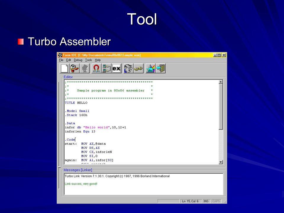 Tool Turbo Assembler
