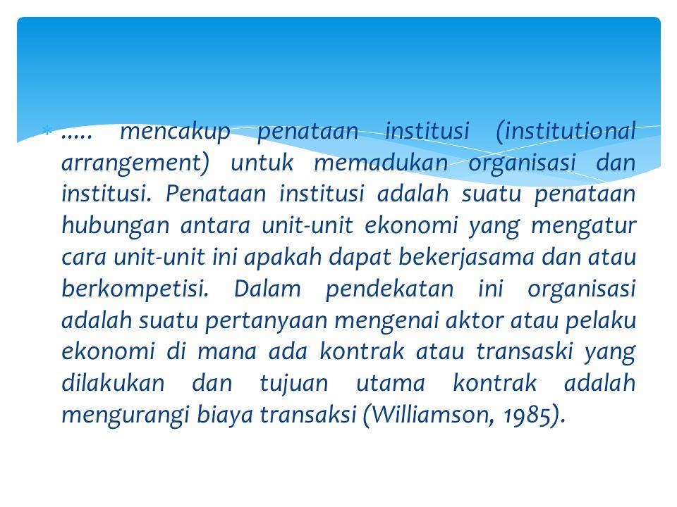 Koordinasi dengan kebijakan sektor kehutanan dan sektor pertanian.