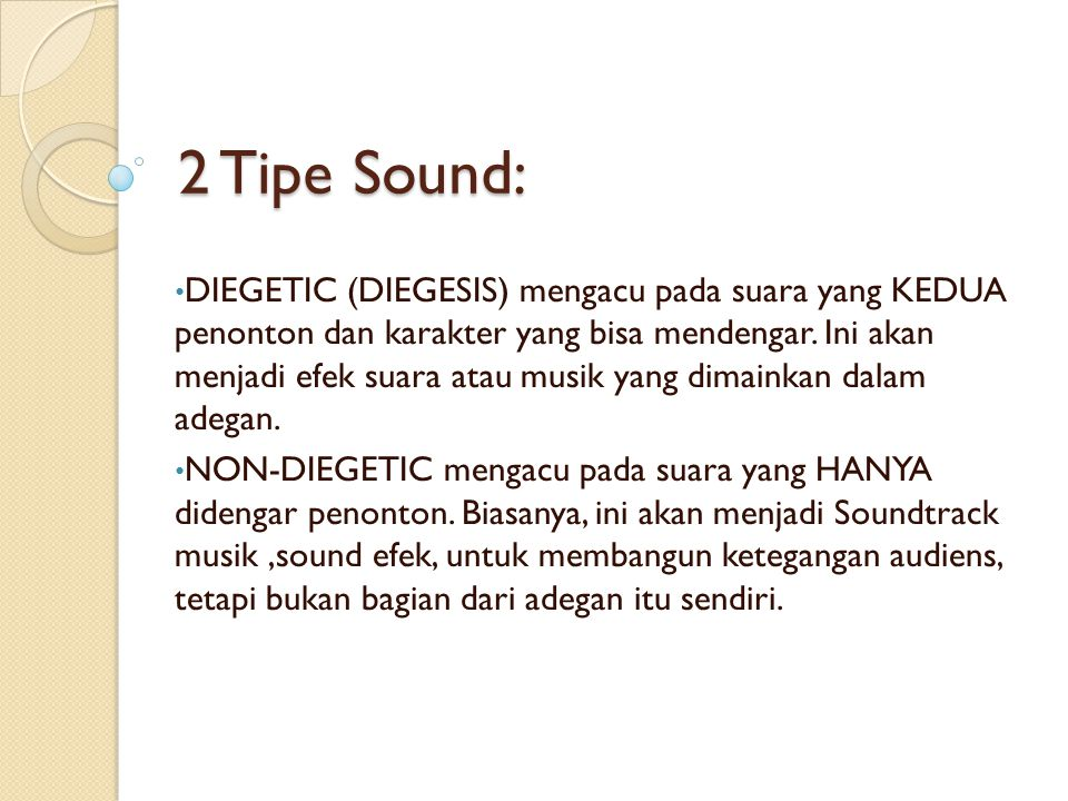 Mixing Suara Memberikan panduan perhatian pemirsa, tergantung pada pemilihan dan pengerjaan ulang suara.