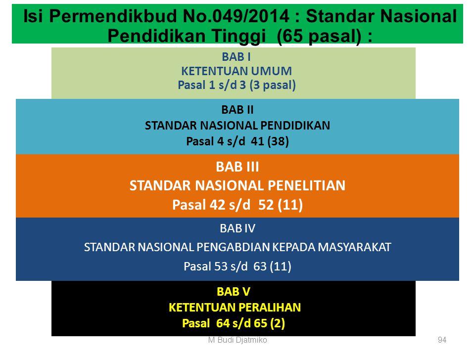 BAB II STANDAR NASIONAL PENDIDIKAN Bagian Kesembilan Standar Pembiayaan Pembelajaran Pasal 41 (1) Badan penyelenggara perguruan tinggi atau perguruan