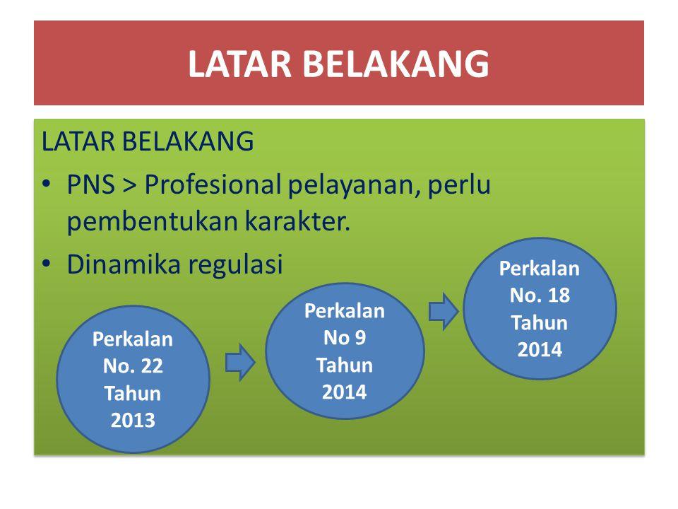 LATAR BELAKANG PNS > Profesional pelayanan, perlu pembentukan karakter. Dinamika regulasi LATAR BELAKANG PNS > Profesional pelayanan, perlu pembentuka